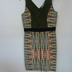 RACHEL  RACHEL ROY TRIBAL  FRONT ZIP DRESS SZ 8